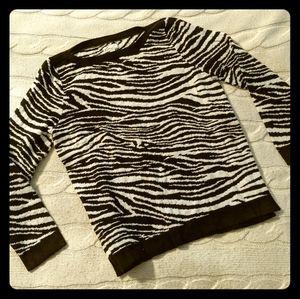 80s style zebra stripe sweater STRANGER THINGS